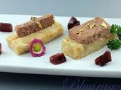 Pâté fegatini pollo petali rose base pancotto gelatina porto