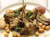 Agnello carciofi, borlotti ceci ricetta leggera, sostanziosa digeribile.