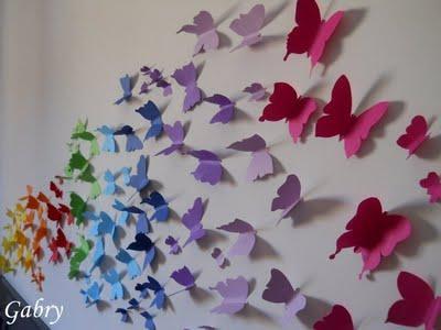 decorare una parete con le farfalle / decorating with butterflies ... - Come Decorare Una Parete Di Casa