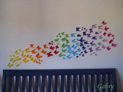 Decorare una parete con le farfalle decorating with butterflies paperblog - Decorare una parete ...