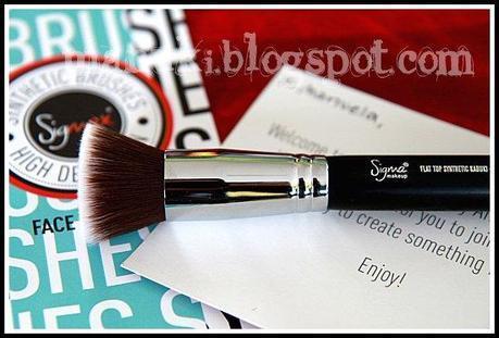 Review Sigma E25 Blending Brush e F80 Flat Top Synthetic Kabuki