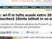 pericolosa tecnologia tutte scuole entro 2012 Brunetta specifica sogno installarlo elementari
