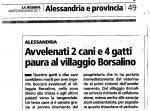 Bocconi avvelenati villaggio Borsalino.