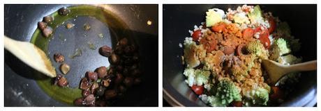 Insalata calda di orzo e broccolo romanesco, preparati con pentola a pressione elettrica