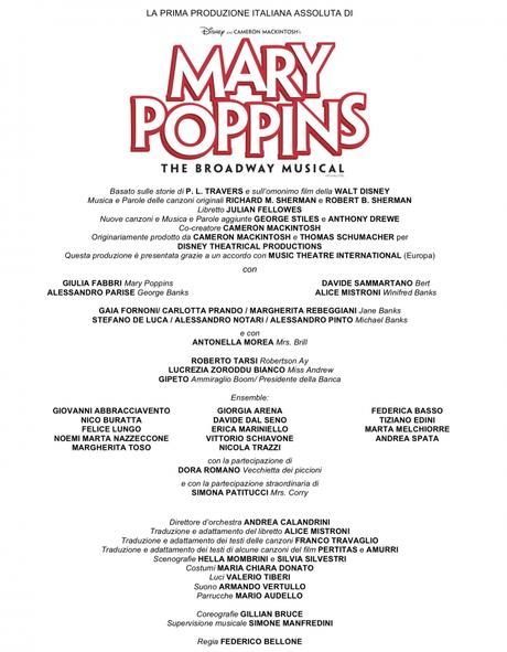 Mary Poppins musical: i video promo in attesa del debutto a Milano - MILANO ✦ TEATRO NAZIONALE ✦ DAL 13 FEBBRAIO AL 13 MAGGIO 2018 ✦