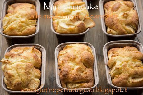 Mini plumcake alle mele, limone e cannella senza glutine