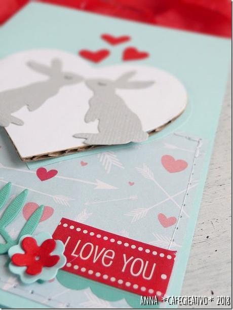 Card di San Valentino con coniglietti