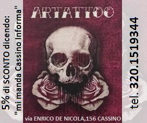 Artattoo Cassino, negozio di tatuaggi e piercing a Cassino