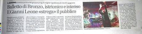 Il Balletto di Bronzo live al Club Il Giardino, di Marco Pessina