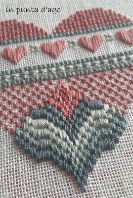 bargello heart