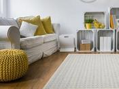 Arredare tonalità neutre: tappeto grigio