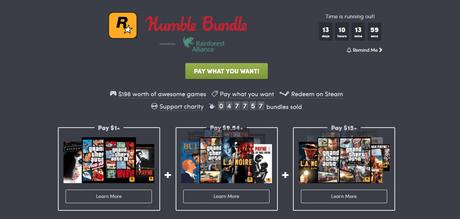 Rockstar Games per Humble Bundle: ben 11 capolavori a 12€