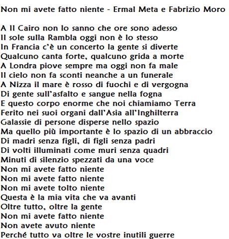 Non mi avete fatto niente di Ermal Meta e Fabrizio Moro: significato e testo del brano favorito a Sanremo 2018