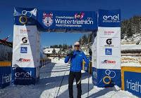 PAVIA. Davide Ingrilli (Raschiani Triathlon) argento negli juniores ai Campionati del mondo di winter triathlon.