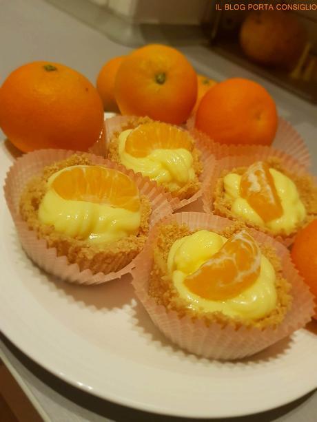 cestini di crema e mandarini