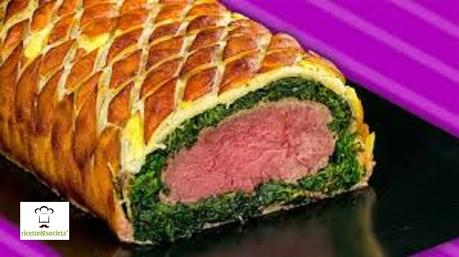 Filetto di maiale in crosta con cuore di spinaci e pancetta