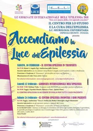 Giornate Mondiali dell'Epilessia 2018, Monte Sant'Angelo si colora di viola