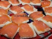 Antipasti: Tartine salmone