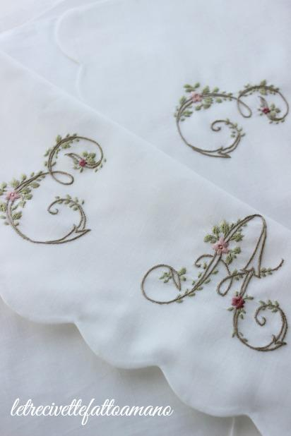 Lettere fiorite su portabiancheria...
