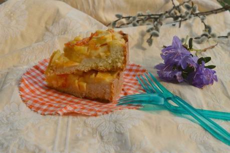 Torta di mele e crema pasticcera leggera | Ricetta senza uova e senza burro