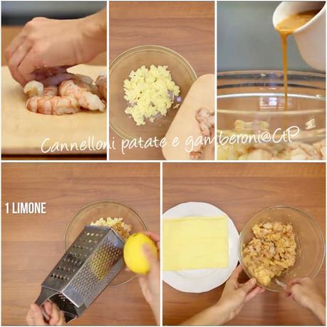 Cannelloni gamberoni e patate alessandra ruggeri