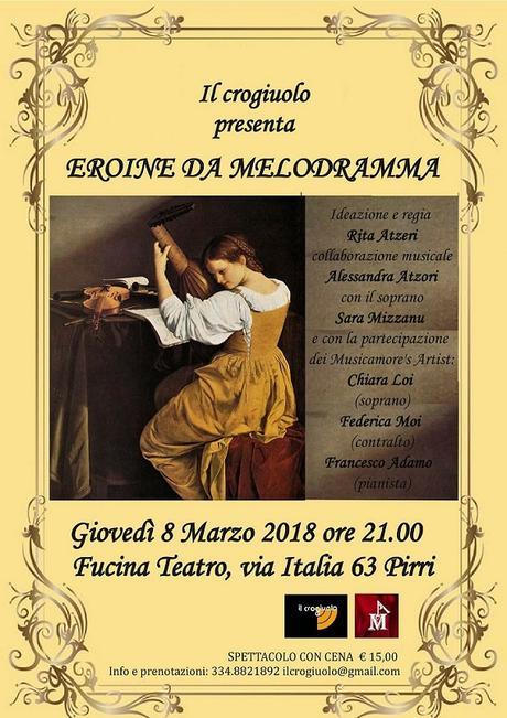 8 marzo a cena con le eroine del Melodramma