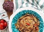 Spaghetti piccanti carciofi, datterini acciughe