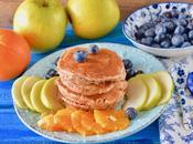 Pancakes vegan alla mela farina avena