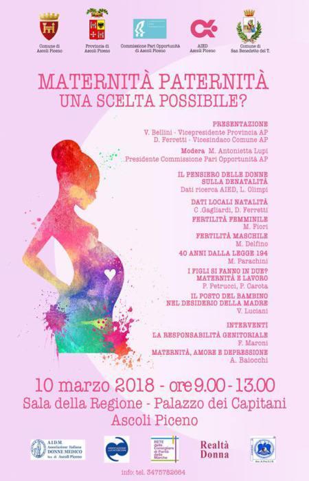 """""""Maternità Paternità – Una scelta possibile?"""" – Convegno ad Ascoli Piceno"""