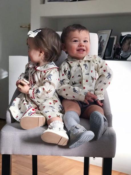I twins con abiti da principini: scopriamo il brand Rachel Riley