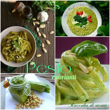Pesto e varianti   Raccolta di ricette con il pesto