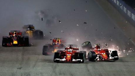 Verstappen Kimi Raikkonen Vettel Singapore