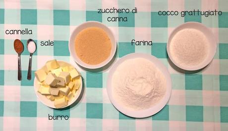 ANANAS AL FORNO con CRUMBLE AL COCCO