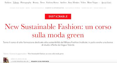 New Sustainable Fashion 2018