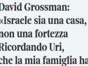 """""""Israele fortezza, ancora casa"""": discorso Memorial David Grossman agli israeliani palestinesi lutto."""