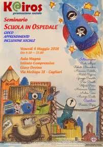 Scuola in ospedale – Gioco, apprendimento e inclusione sociale – Venerdì 4 maggio a Cagliari