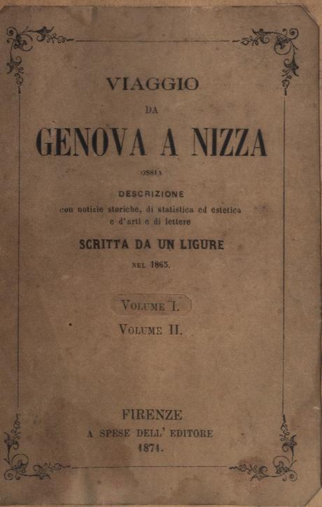 Viaggio da Genova a Nizza scritto da un ligure nel 1865
