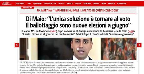 Sulla sciagurata e irresponsabile campagna pro-PDR del duo Travaglio – Di Maio: non hanno capito che i tempi sono cambiati! Sulla rivincita di Salvini!