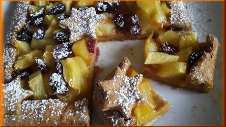 Galletta integrale con Ananas e Mirtilli rossi