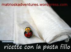 Banner concorso raccolta ricette con la pasta fillo