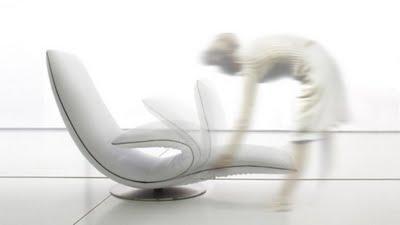 Poltrona Ricciolo chaise longue design Angelo Tomaiuolo per Tonin CASA