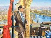 """BREAK: BANDIERE ROSSE"""" (ritratto Berlusconi 1989)"""