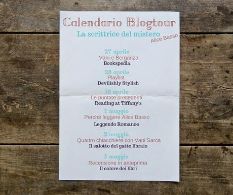 BLOGTOUR: LA SCRITTRICE DEL MISTERO DI ALICE BASSO - ULTIMA TAPPA