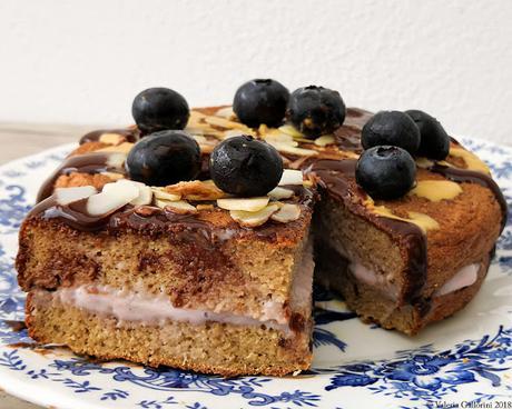 Pancake alto e soffice con farina di cocco e cacao
