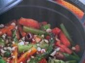 Stufato carote asparagi zenzero olive nocciole