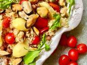 Insalata quinoa, cozze fagioli borlotti