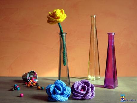 Ci vuole un fiore – schema gratuito rosa uncinetto