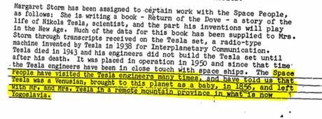 Documenti declassificati dall'FBI: Nikola Tesla è stato portato sulla Terra da Venere