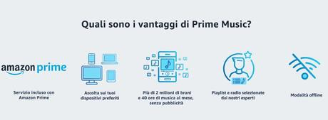 Amazon Prime Music disponibile in Italia: musica gratis per tutti gli utenti Amazon Prime