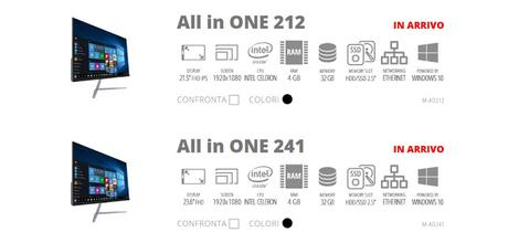 Mediacom presenta i nuovi All in One 212 (M-AO212) e 241 (M-AO241)